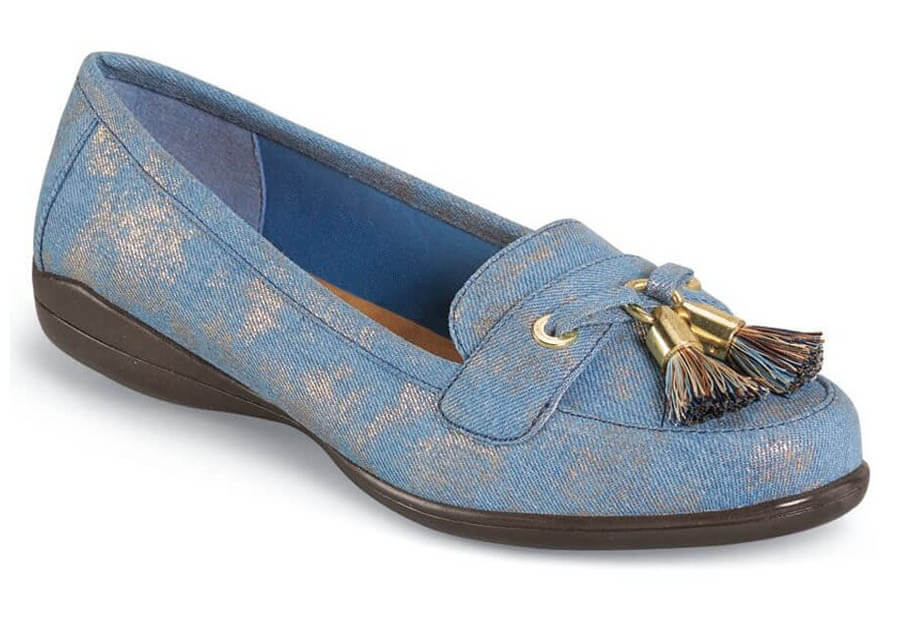 Denise Blue Washed Denim Tassel