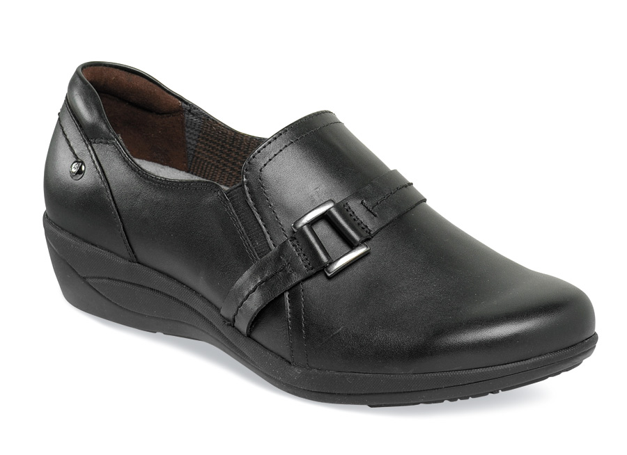 Charming Oleena Black Slip-on