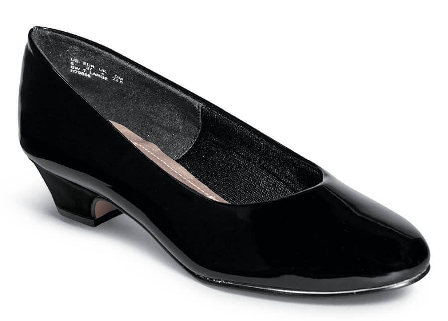 Angel II Black Patent Low Pump