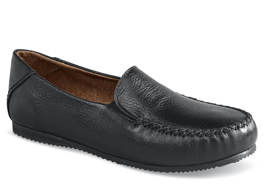 Sharon Black Moccasin Loafer