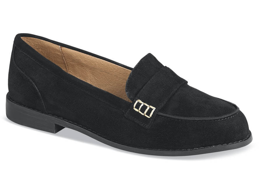 Penelope Black Suede Slip-on