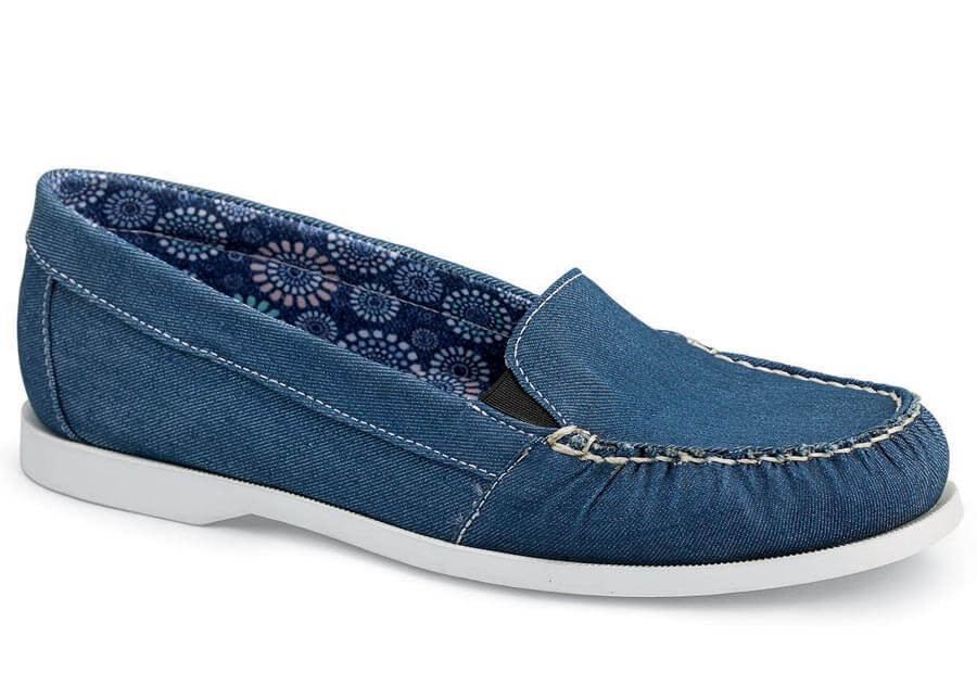 Tracey Denim Blue Boat Loafer