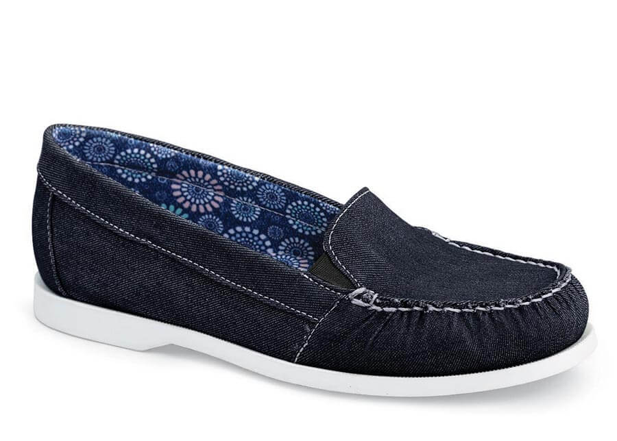 Tracey Navy Denim Boat Loafer