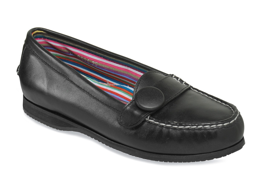 Penny Button Moccasin Slip On