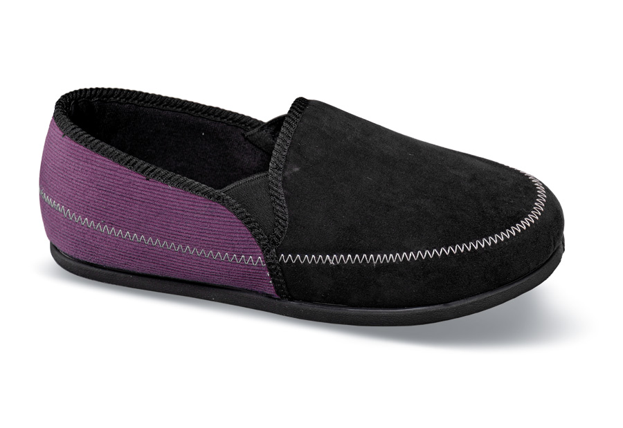 Violet Black/Purple Slipper