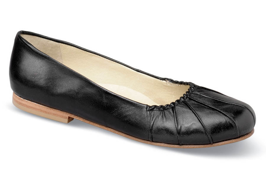 Annabella Black Pleat Ballet Flat