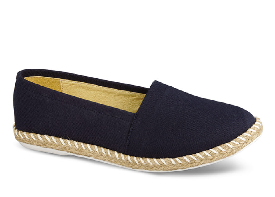 Maggie Navy Canvas Espradrille