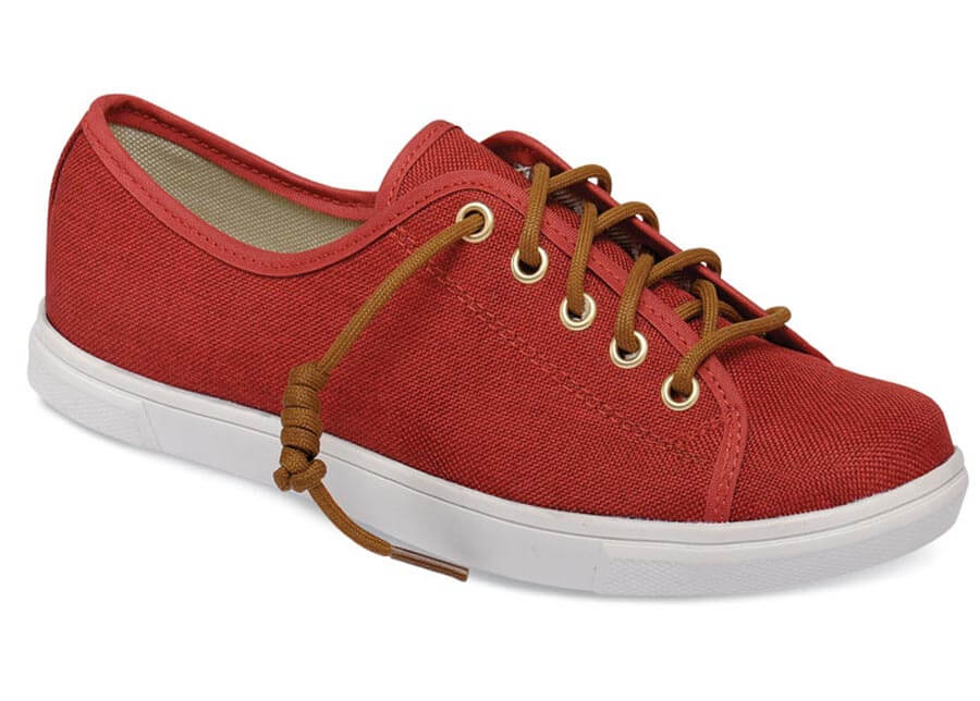 Emma Red Canvas Sneaker