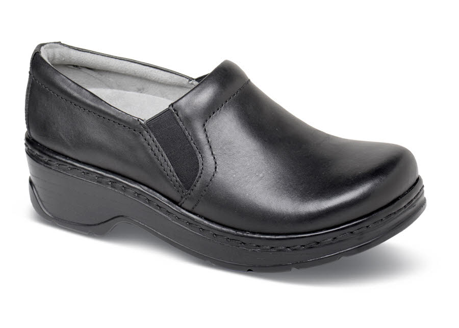 Naples Black Leather Clog