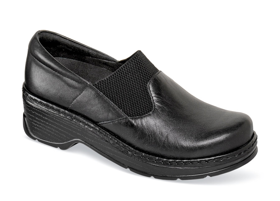 Imperial Black Leather Clog