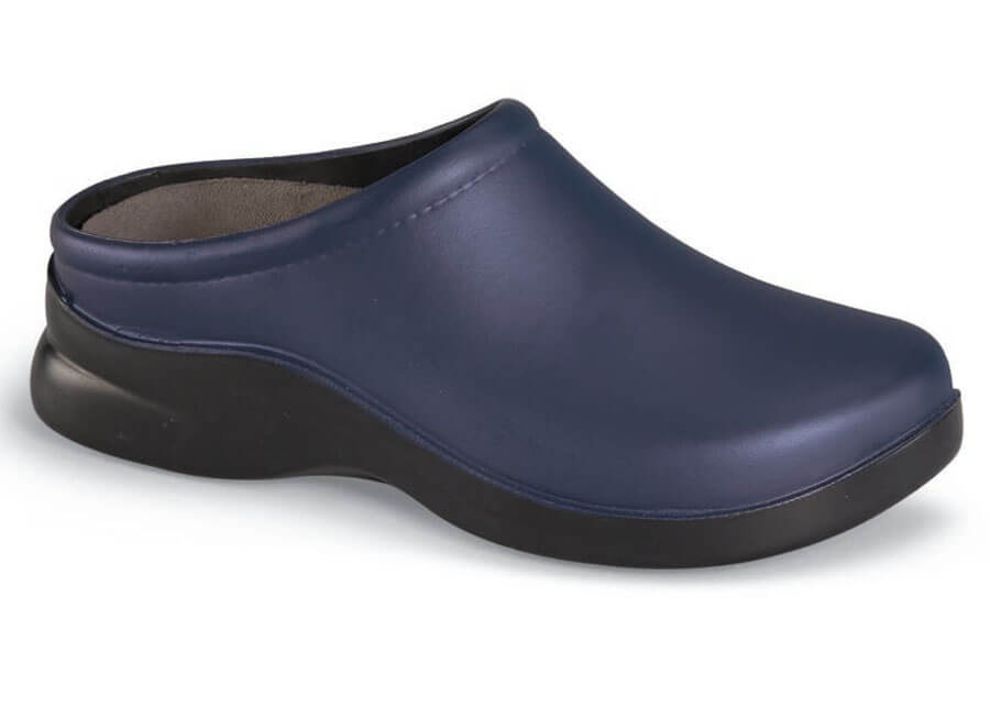 Dusty Bluebird PU Backless Clog