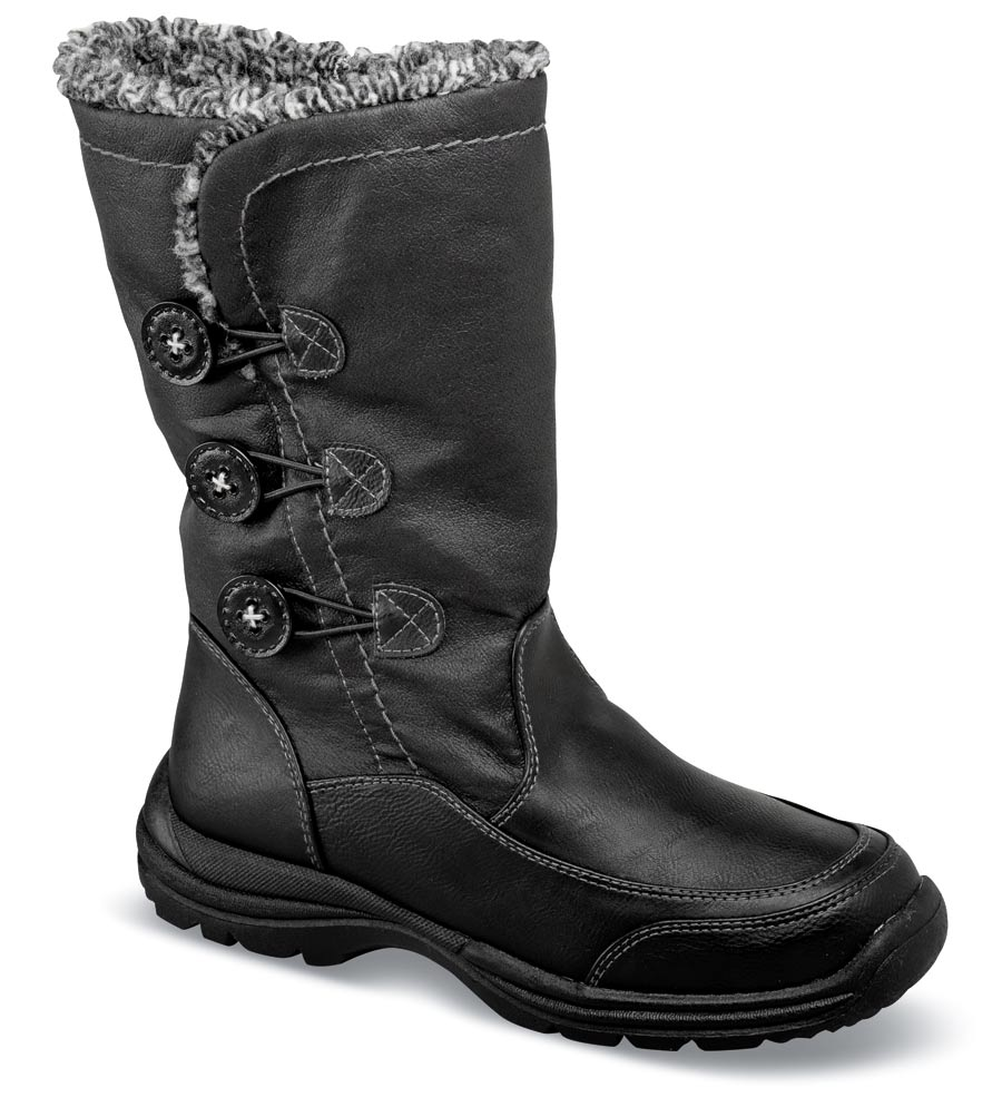 Frieda Black Pile Lined Boot