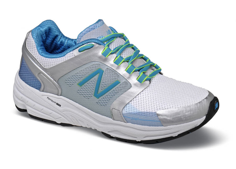 Silver/blue W3040 Running Shoe