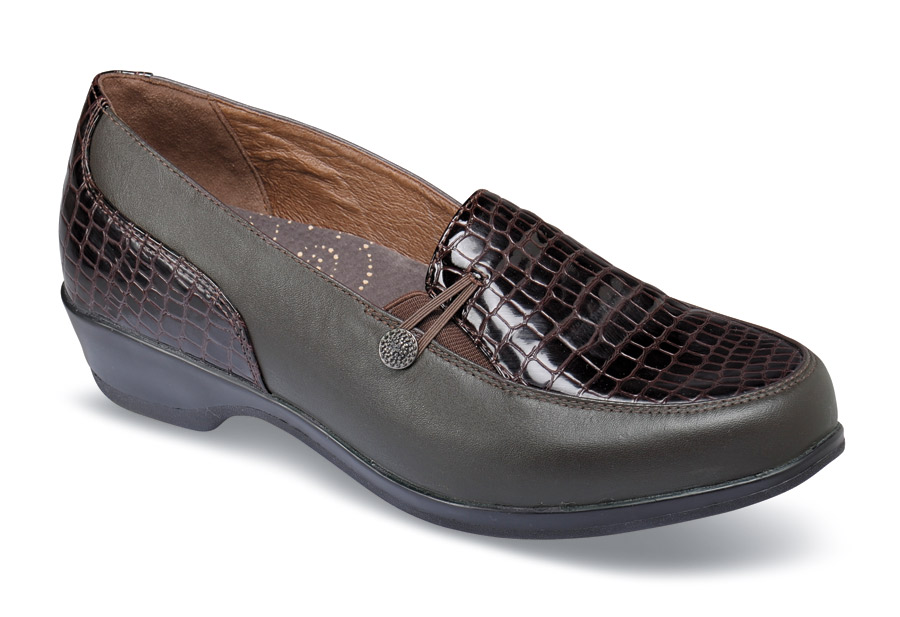 Briana Brown Croco Slip-on