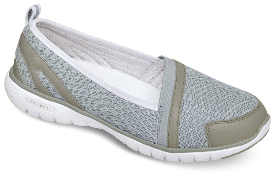 Travellite Slip-on Silver Mesh