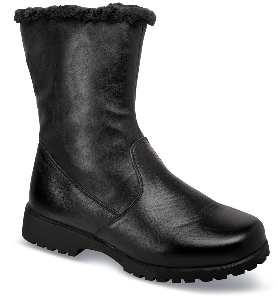 Madison Leather Mid Black Boot
