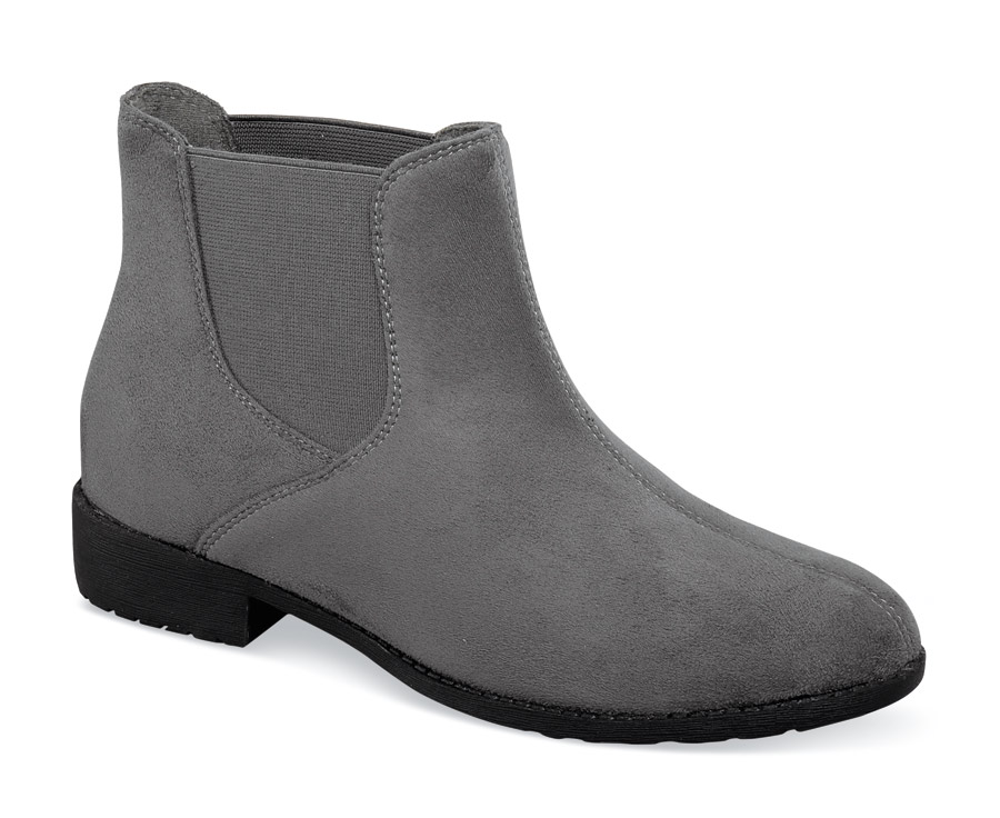 Scout Grey Velour Pull-on Boot