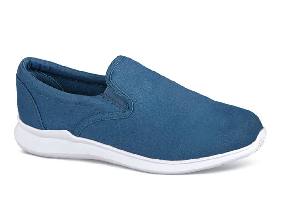 Finch Blue Canvas Slip-on