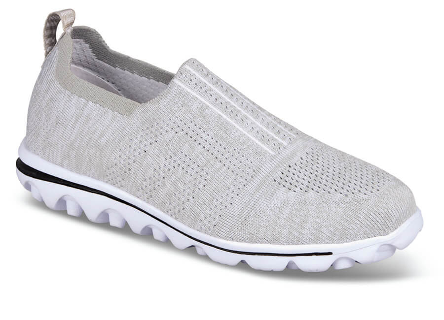 TravelActiv Grey Mesh Slip-on