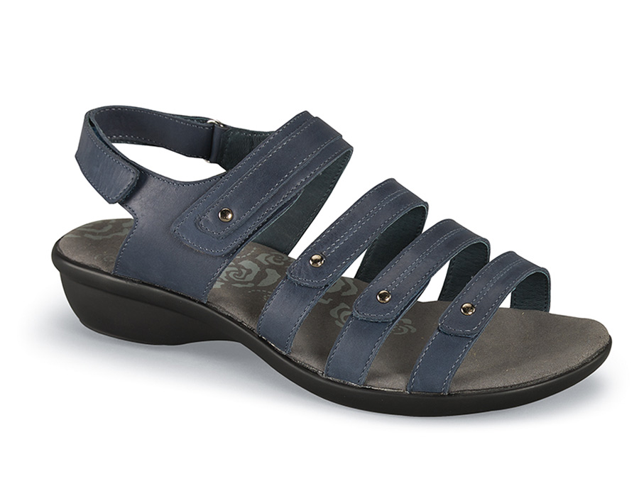 Aurora Blue Five Strap Sandal