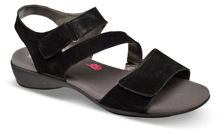 Marilyn Black Nubuck Sandal