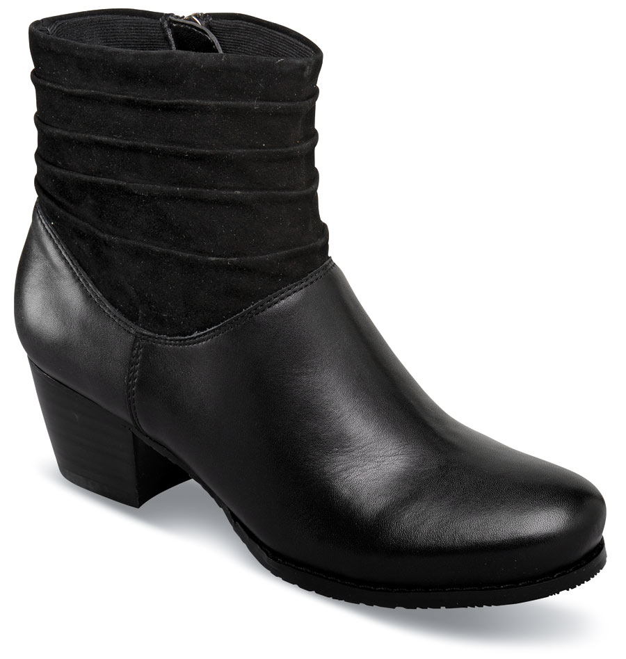 Bonnie Black Zip Ankle Boot