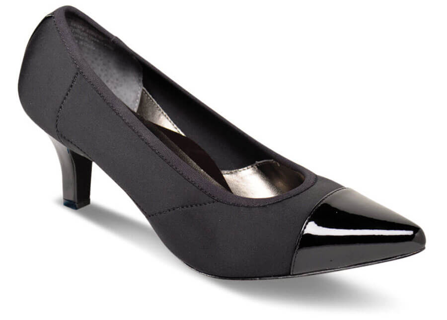 Keisha Black Stretch Pump