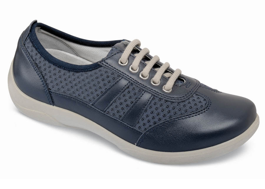 Julie Navy Leather Sneaker