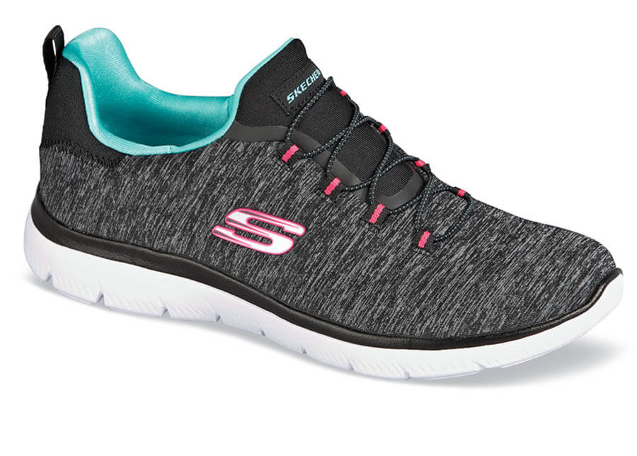 Summits Charcoal Bungee Slip-on