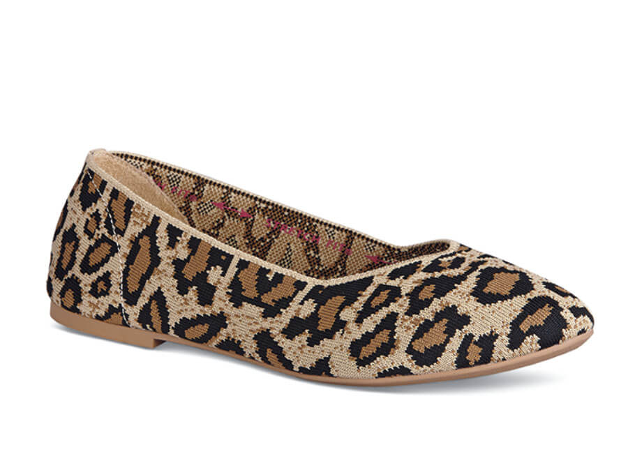 Cleo Leopard Stretch Flat