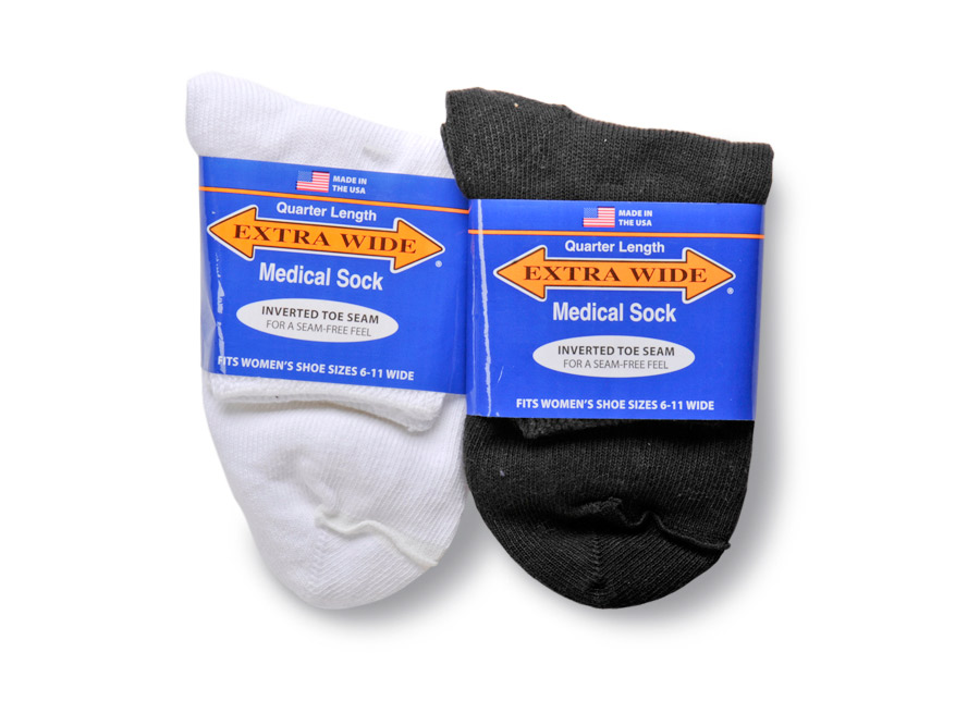 Extra Wide Medical Quarter Socks